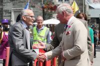 Prince Charles meeting former Mayor Robin Pike
