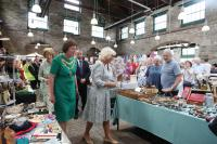The Duchess of Cornwall & the Mayor in the Pannier Market