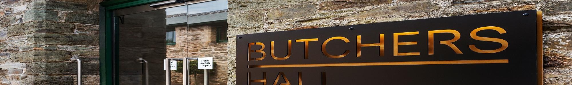 Butchers' Hall Sign