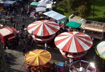 Aerial view of Goose Fair