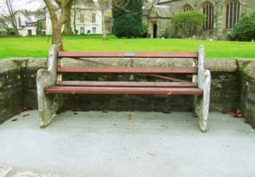 Bench by Tavistock Parish Church