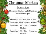 Butchers' Hall Christmas Markets Poster