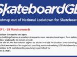 Skateparks reopen 29th March 2021
